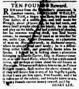 Oct 26 - Virginia Gazette Rind Slavery 10