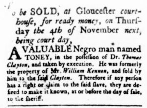 Oct 26 - Virginia Gazette Rind Slavery 2