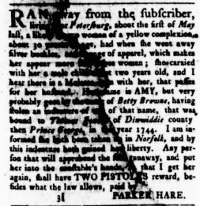 Oct 26 - Virginia Gazette Rind Slavery 3