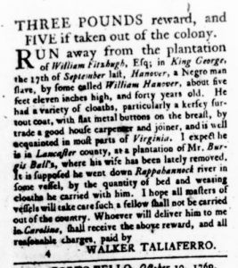 Oct 26 - Virginia Gazette Rind Slavery 6
