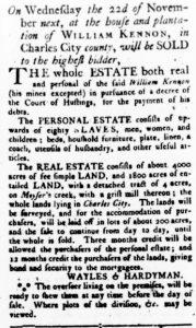 Oct 26 - Virginia Gazette Rind Slavery 8