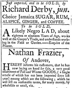 Oct 3 - 10:3:1769 Essex Gazette