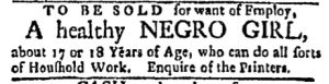 Oct 30 - Boston Evening-Post Slavery 1