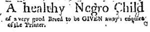 Oct 5 - Massachusetts Gazette and Boston Weekly News-Letter Slavery 1