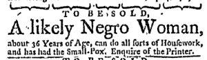 Oct 5 - Massachusetts Gazette and Boston Weekly News-Letter Slavery 2