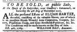 Oct 5 - South-Carolina Gazette Slavery 1