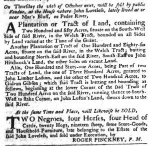 Oct 5 - South-Carolina Gazette Slavery 2