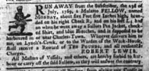 Oct 5 - South-Carolina Gazette Slavery 6