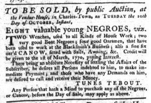 Oct 5 - South-Carolina Gazette Slavery 7