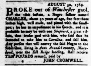 Oct 5 - Virginia Gazette Rind Slavery 10