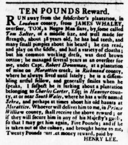 Oct 5 - Virginia Gazette Rind Slavery 11