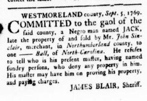 Oct 5 - Virginia Gazette Rind Slavery 4