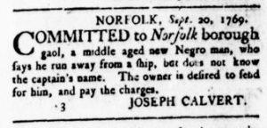 Oct 5 - Virginia Gazette Rind Slavery 5