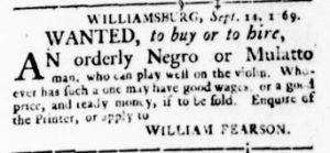 Oct 5 - Virginia Gazette Rind Slavery 6