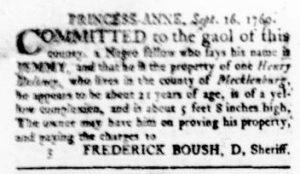 Oct 5 - Virginia Gazette Rind Slavery 7