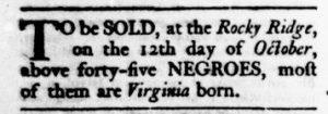 Oct 5 - Virginia Gazette Rind Slavery 9