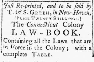 Oct 6 - 10:6:1769 Connecticut Journal