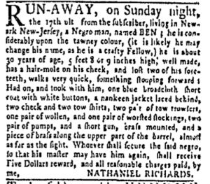 Oct 9 - New-York Gazette and Weekly Mercury Slavery 9