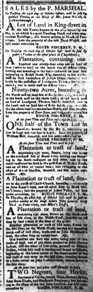 Oct 9 - South-Carolina and American General Gazette Slavery 4