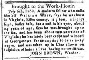 Oct 9 - South-Carolina and American General Gazette Slavery 6