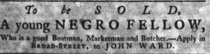 Aug 2 - South-Carolina Gazette slavery 6