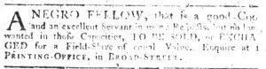 Aug 2 - South-Carolina Gazette slavery 7