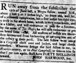 Aug 2 - Virginia Gazette Rind slavery 2