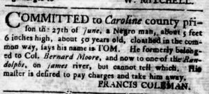 Aug 2 - Virginia Gazette Rind slavery 4