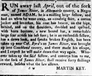 Aug 2 - Virginia Gazette Rind slavery 7