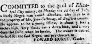 Aug 2 - Virginia Gazette Rind slavery 8