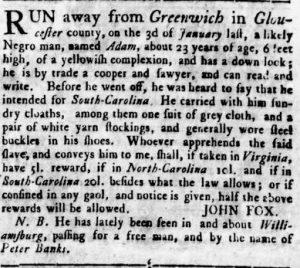 Aug 2 - Virginia Gazette Rind slavery 9