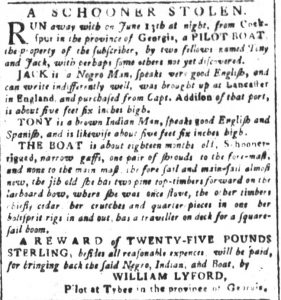 Aug 3 - South-Carolina and American General Gazette slavery 1