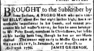 Aug 3 - South-Carolina and American General Gazette slavery 2