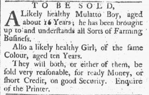 Aug 4 - Providence Gazette slavery 1