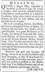 Aug 4 - Providence Gazette slavery 2