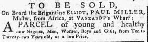 Aug 6 - New-York Gazette or Weekly Post-Boy slavery 1