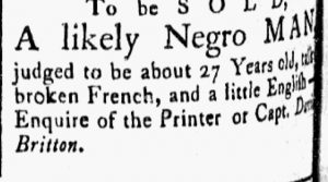 Aug 7 - Essex Gazette slavery 2