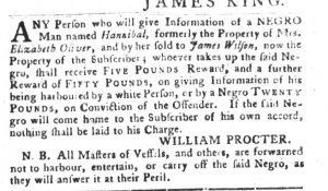 Aug 7 - South-Carolina Gazette and Country Journal slavery 2