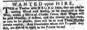 Aug 7 - South-Carolina Gazette and Country Journal slavery 3