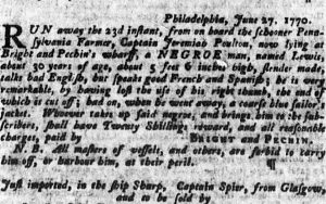 Jul 19 - Pennsylvania Gazette slavery 1