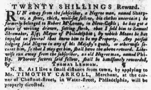 Jul 19 - Pennsylvania Gazette slavery 2