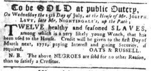 Jul 19 - South-Carolina Gazette slavery 2