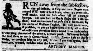 Jul 19 - Virginia Gazette Purdie and Dixon slavery 7
