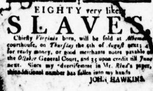 Jul 19 - Virginia Gazette Rind slavery 1