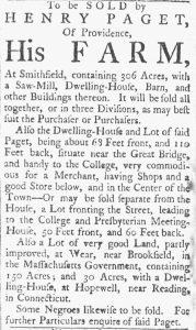 Jul 21 - Providence Gazette slavery 1