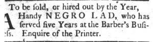 Jul 24 - South-Carolina Gazette and Country Journal slavery 2