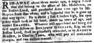 Jul 24 - South-Carolina Gazette and Country Journal slavery 5