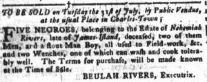 Jul 24 - South-Carolina Gazette and Country Journal supplement slavery 3