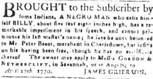 Jul 25 - South-Carolina and American General Gazette slavery 2
