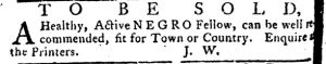 Jul 26 - Pennsylvania Journal and Weekly Advertiser slavery 5